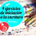 ejercicios de iniciación a la escritura